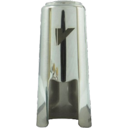 Couvre bec clarinette mib en métal argenté vandoren optimum