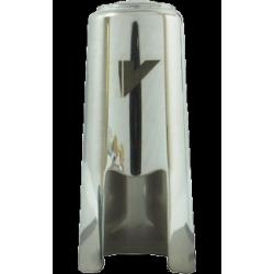 Couvre bec clarinette alto en métal argenté vandoren optimum