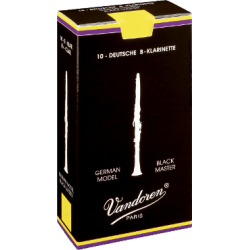 Reed Clarinet Austrian Vandoren black master force 2.5 x10