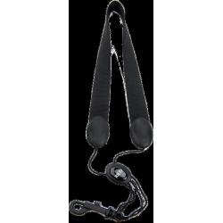 Cable de saxofón soprano alto negro con mosquetón rico d'addario