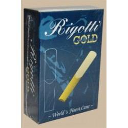 Caña Saxo Alto Rigotti oro clásico fuerza 4 x10