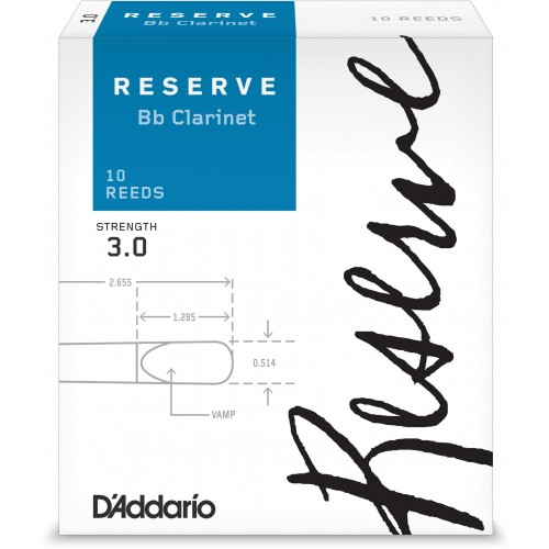 Box of 10 reeds Rico Reserve Clarinet Sib/Bb force 3