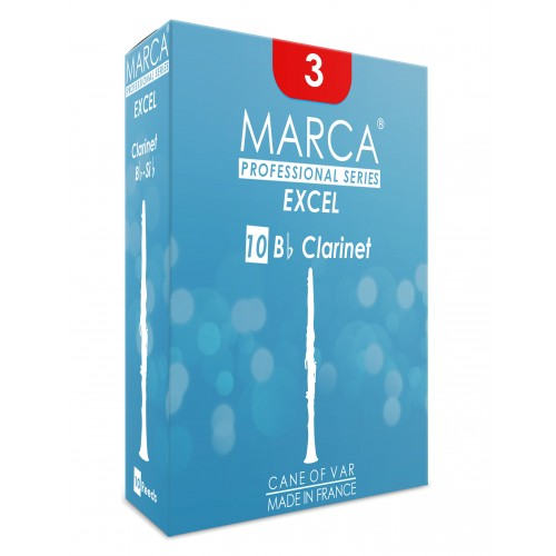 Box of 10 reeds Marca Excel Clarinet Sib/Bb force 3