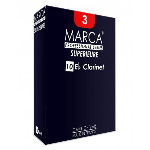 10 anches Clarinette Mib / Eb Marca Supérieure force 2.5