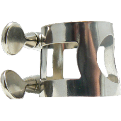 Ligature nickel-plated soprano saxophone and clarinette mib / eb apm