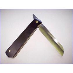 Couteau pliant rasoir lame double acier carbone Rigotti
