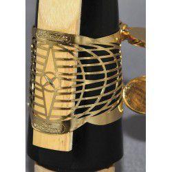 Ligature 22k plaqué or bb clarinette medium