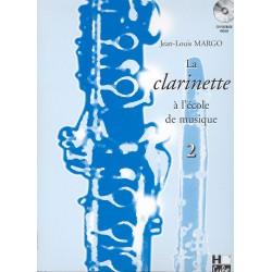 Methode clariette Lemoine J.L Margo La clarinette à l'ecole de musique Vol.2 +CD