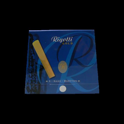 Reed Saxofón Barítono Rigotti de oro de la fuerza 3 x3