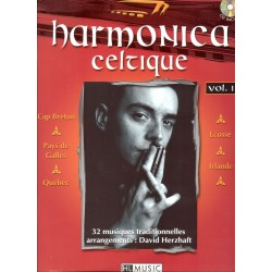 Partition harmonica Lemoine D. Herzhaft Harmonica celtique Vol.1 + CD