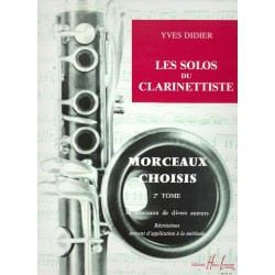 Partition clarinette Lemoine Y. Didier Les solos du clarinettiste Vol.2