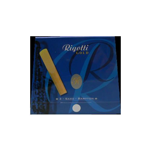 Reed Saxofón Barítono Rigotti de oro de fuerza 3.5 x3