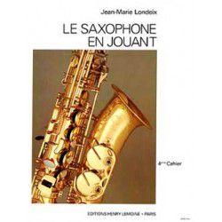 Methode - etude saxophone Lemoine J.M Londeix Saxophone en jouant Vol.4