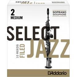 Anche Saxophone Soprano D'Addario Jazz force 2m medium filed x10
