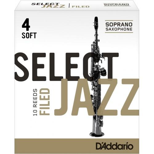 Caña Saxo Soprano Rico d'addario de jazz de la fuerza 4s suave presentada x10