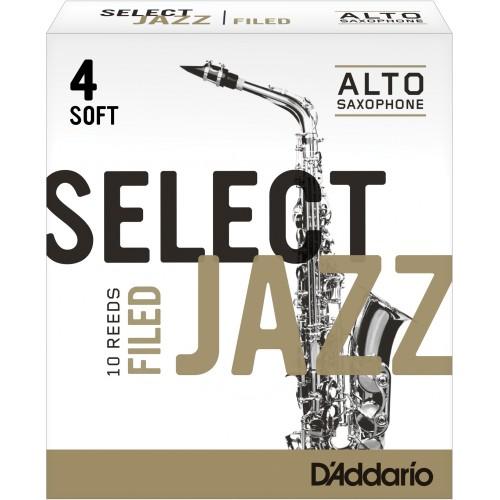 Anche Saxophone Alto Rico d'addario jazz force 4s soft filed x10