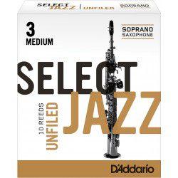 Reed Sax Soprano Rico d'addario jazz force 3m medium unfiled x10