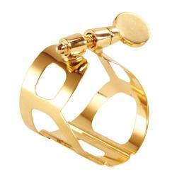 Ligature Saxophone Baryton BRANCHER Gold BHG pour bec ebonite