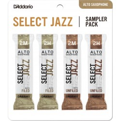 "Anche Saxophone Alto ""Sampler Pack"" Rico D'Addario Select Jazz force 2 X4"
