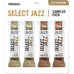 "Anche Saxophone Alto ""Sampler Pack"" Rico D'Addario Select Jazz force 3 X4"