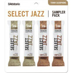 "Anche Saxophone Tenor ""Sampler Pack"" Rico D'Addario Select Jazz force 3 X4"