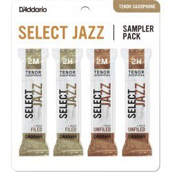 "Anche Saxophone Tenor ""Sampler Pack"" Rico D'Addario Select Jazz force 2 X4"