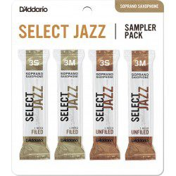 "Anche Saxophone Soprano ""Sampler Pack"" Rico D'Addario Select Jazz force 3 X4"