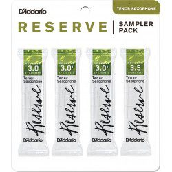 "Anche Saxophone Tenor ""Sampler Pack"" Rico D'Addario Reserve force 3/3+/3.5 X4"