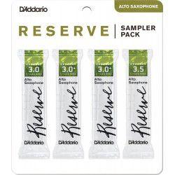 "Anche Saxophone Alto ""Sampler Pack"" Rico D'Addario Reserve force 3/3+/3.5 X4"
