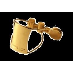 Ligature Saxophone Soprano BRANCHER Gold SHG pour bec ebonite