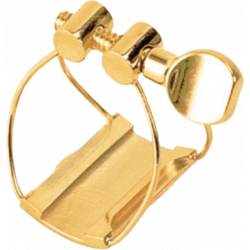 Ligature Saxophone Soprano BRANCHER Gold SMG pour bec metal