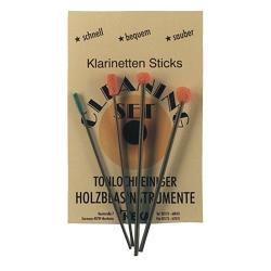 Cotons-tiges pour cheminées de clarinette