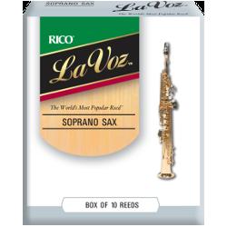 Reed Soprano Sax Rico la voz hard / strong - x10