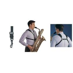 Cordon Saxophone Soft harness Neotech Noir Junior à mousqueton