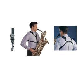 Cordon Saxophone Soft harness Neotech Noir à mousqueton