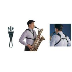 "Cordon Saxophone Soft harness Neotech Noir à ""loop connector"""