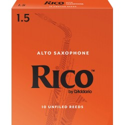 Reed Sax Alto Rico orange force 1.5 x10