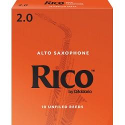 Anche Saxophone Alto Rico by D'Addario Orange force 2 x10
