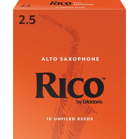 Reed Sax Alto Rico orange force 2.5 x10