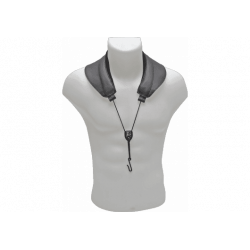Cord sax (a/t) yoke leather shoulder straps