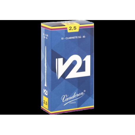 ボックスの10芦Vandoren V21クラリネットSib/Bb力2.5