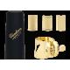 La ligadura de la vandoren optimum saxofón soprano cubre caño de plástico