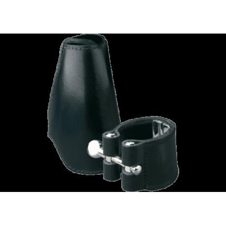 Ligature leder vandoren klarinette in es / eb und deckt bec leder