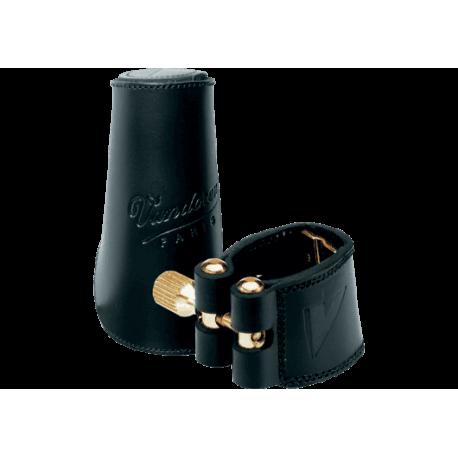 Ligature cuir vandoren saxophone alto et couvre bec cuir