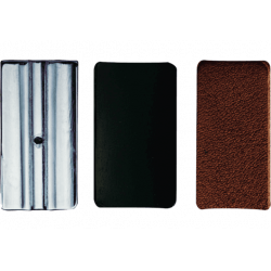 3 placas de presión-ligadura de cuero vandoren clarinette sib / bb