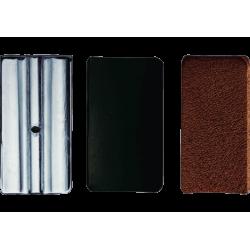 3 placas de presión-ligadura de cuero vandoren clarinette mib / eb