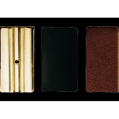 3 pressure plates-ligature leather vandoren alto saxophone