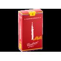 ボックスの10芦Vandoren Java赤いカットソプラノサックスの強度3