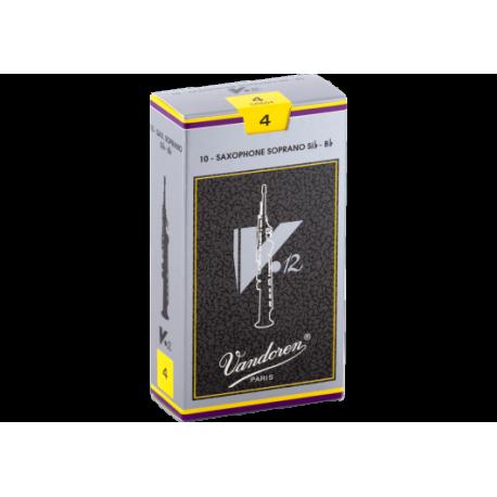Reed Soprano Sax Vandoren v12 strength 4 x10