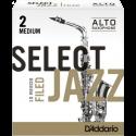 Anche Saxophone Alto D'Addario Jazz force 2m medium filed x10